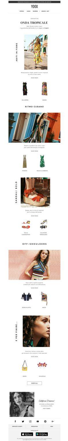 #newsletter Yoox 06.2017 Inspiration: estate tropicale, tutta da indossare