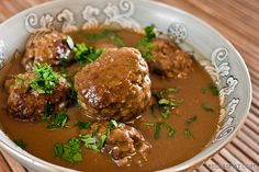 Norwegian Meatballs Kjøttkaker - (Free Recipe below) Norwegian Cuisine, Norwegian Food, Norwegian Recipes, Swedish Recipes, Easy Cooking, Cooking Recipes, Meat Cake, Venison Meat, Bon Appetit