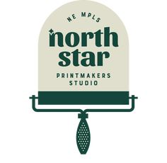 North Star Printmakers Studio is a community print shop located in the Casket Arts Building in Northeast Minneapolis, Minnesota. Printmaking studio for creative growth and connection through the medium of printing. Identity Design, Visual Identity, Logo Design, Badges, Printmaking, Branding, Stars, Studio, Prints