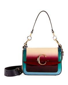 eefd0e2af2b Chloe C Medium Glossy Shading Shoulder Bag