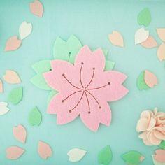 [완제품] 벚꽃잎 티코스터 2장 set