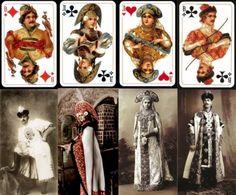 Самая популярная советская колода карт «Русский стиль» выпускается с 1913 года. Интересно, что прототипами некоторых фигур в ней стали реально существующие исторические персонажи.