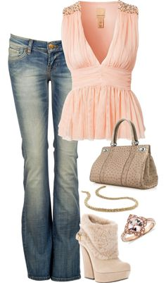 """""""pink and brown"""" by woolycat on Polyvore"""