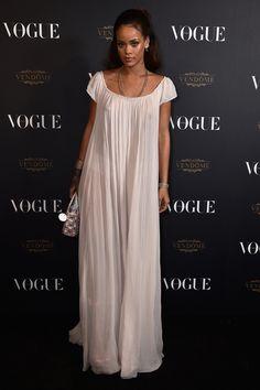 Rihanna in a Dior Haute Couture dress