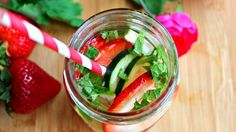 Stay refreshed with these 15 detox water recipes! Experiment with different fruit and herb flavors to find your healthy favorites!