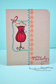 one layer lovely by lawnfawncards/Kelly Marie, via Flickr