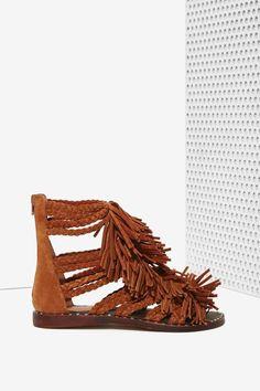 Jeffrey Campbell Santana Suede Fringe Sandal | Shop Shoes at Nasty Gal!