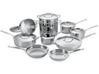 Dream cookware: 17-pc. Chefs Classic Stainless Cookware Set by Cuisinart  #holidaycooking