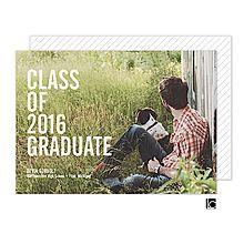 Simple and Bold Graduation Photo Card