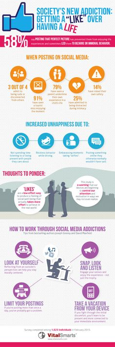 How Wanting 'Likes' on Social Media Is Killing Our Capacity for Actual Joy #infographic