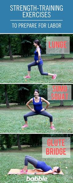 These are some generally safe strength exercises you can do during pregnancy to help you prepare for and ease labor, birth, and recovery. You can start these from early pregnancy and continue throughout, using your body and judgment as a guide as to how many reps, how often, and what size weights to use.