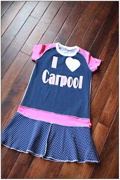Size 7 I Love Carpool Dress by littlejessiw on Etsy, $30.00