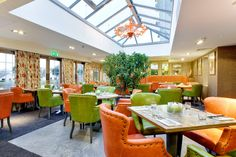 The Orangery at The Spa Hotel Hotel Spa, Places To Eat, Fine Dining, Food And Drink, Table Decorations, Furniture, Home Decor, Decoration Home, Home Furnishings
