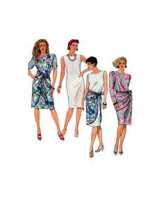 Simplicity 9702, Women, Shift Dress, Tunic Dress, Boat Neckline, Short Sleeves, Sleeveless, Sundress, Sewing Pattern, Sarong Wrap, Size 6-14 by FindCraftyPatterns on Etsy