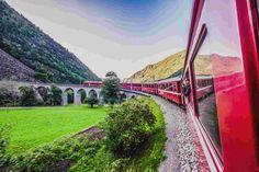 Trenino Rosso del Bernina Bernina Express, Golden Gate Bridge, Around The Worlds, Travel, Viajes, Trips, Traveling, Tourism, Vacations