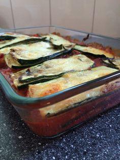 Lasagne of zucchinian and buffalo mozzarella with a paprika, eggplant, tomato sauce -- Lasagna van courgette en buffel mozzarella  met paprika, aubergine, tomatensap   #healthy #lowcarb #lowsugar