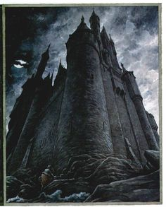 Dark castle - art by L. J. Lynch #Fairytale, #Fantasy