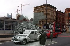 Manchester Blitz, Then & Now Piccadilly