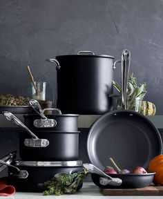 All the essential pieces for nonstick cooking. The new All-Clad NS1 combines the heating ability and temperature control of anodized aluminum and is dishwasher safe.