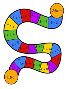 Addition and Subtraction Board Games - 5 varieties included.