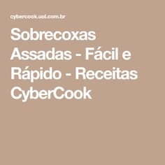 Sobrecoxas Assadas - Fácil e Rápido - Receitas CyberCook