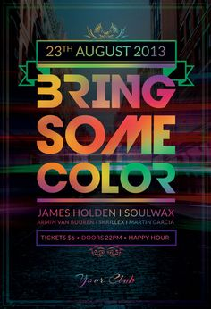Bring Some Color Flyer by ~styleWish on Graphicriver