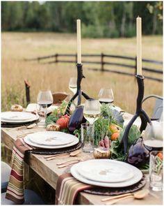 Mesa de otoño con verduras y hortalizas