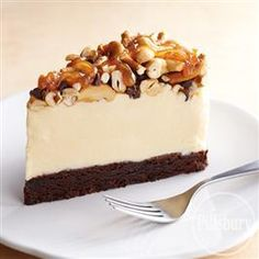 Caramel Cashew Brownie Ice Cream Torte from Pillsbury® Baking