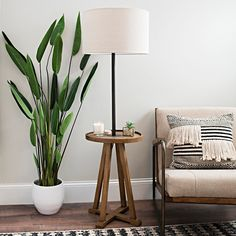 Eclectic style and versatile functionality combine in our Brown and Black Relics Shelf Floor Lamp! It's the perfect combination of a floor lamp and accent table. Farmhouse Floor Lamps, Rustic Floor Lamps, Diy Floor Lamp, Floor Lamp With Shelves, White Floor Lamp, Rustic Lamps, Modern Floor Lamps, Shelf Lamp, Tall Lamps
