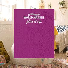 Transforming a small space is easy at Cost Plus World Market! Turn that extra room into a playroom for the kids! Add fun beanbag seating, plenty of baskets for storage and a versatile daybed for napping and guests. For more tips and 1000s of small space furniture, lighting and decor pieces, shop Cost Plus World Market! #WorldMarket #HomeDecor #SmallSpaces #PlusItUp