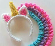 Crochet Unicorn headband