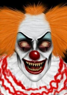 Creepy clowns are way creepier after Halloween. Gruseliger Clown, Clown Posse, Circus Clown, Creepy Clown, Creepy Faces, Creepy Carnival, Clown Mask, Circus Theme, Circus Party