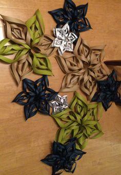 Paper snowflakes. DIY Christmas.