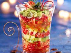 Découvrez la recette Verrine de homard anisé à l'avocat sur cuisineactuelle.fr.