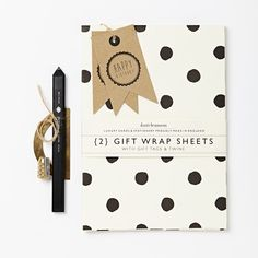 "Two sheets of neatly folded painted polka dot wrapping paper with 2 kraft gift tags - ""happy birthday"". Proudly made in England. Printed on paper. Each gift wrap sheet is 500 x Monochrome Pattern, Luxury Card, Happy Birthday Gifts, Fine Paper, Mothers Day Cards, Home Gifts, Gift Tags, Polka Dots, Wraps"