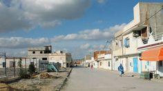 Neighborhood street outside of Tunis, Tunisia.