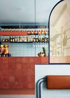 Muy interesante, diferente, colorido,.. FONDA en Melbourne: elegantes reminiscencias de México, por studio ESTETA . ...