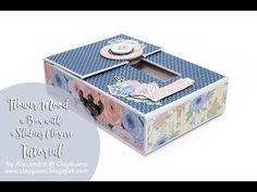 """A box with a Sliding Closure - Inspiration for """"Fabrika Decoru"""" DT Mini Scrapbook Albums, Baby Scrapbook, Scrapbook Pages, Mini Albums, Mini Album Tutorial, Altered Boxes, Explosion Box, Pillow Box, Mini Books"""