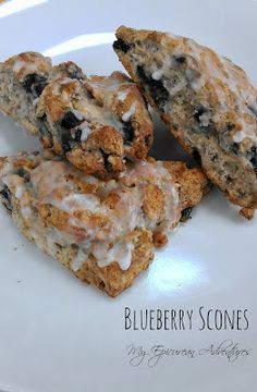 My Epicurean Adventures: Simply Glazed Blueberry Scones