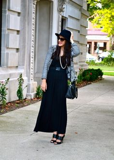 Hats Off: Black Maxi Dress