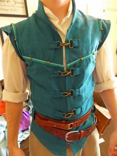 """taylor} """"this is my flynn rider/eugene costume."""" i smile. Tangled Cosplay, Tangled Costume, Disney Cosplay, Disney Costumes, Cool Costumes, Adult Costumes, Cosplay Costumes, Pocahontas Costume, Tangled Party"""