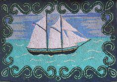 Rug hooking in Scotia Hook Punch, Yes Man, Rug Hooking Patterns, Hand Hooked Rugs, Lost Art, Nova Scotia, Rug Making, Sheep, Primitive