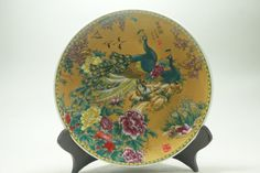 Fine Old China porcelain Ceramic painting Peacock and flowers porcelain plates Wedding Decoration