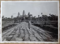 Sonja outside Angkor Wat - Cambodia 1964