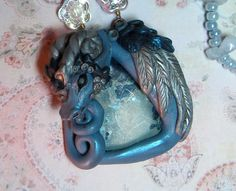 elven elysium hand sculpted polymer clay dragon by ElvenElysium, $85.00