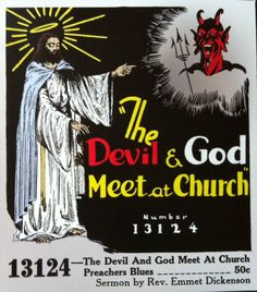The devil and god meet at church