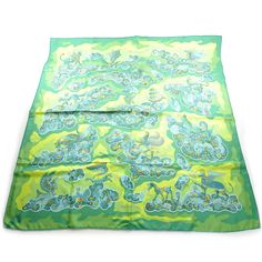 Fashionphile - HERMES Silk Nuees Imaginaires Scarf 90 Green NEW