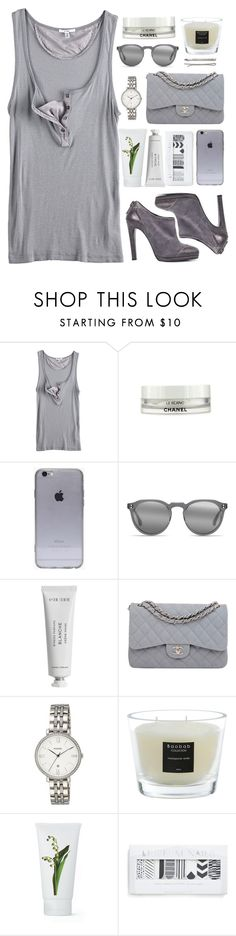 """White & Grey"" by an-italian-brand ❤ liked on Polyvore featuring Clu, Chanel, raen, Byredo, FOSSIL, Baobab Collection, PENHALIGON'S and Madewell"