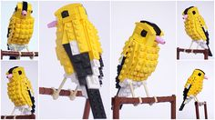 North American birds made from Lego – in pictures