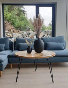 Bord rundt tre/metallbein 81x53cm Table, Furniture, Home Decor, Decoration Home, Room Decor, Tables, Home Furnishings, Home Interior Design, Desk